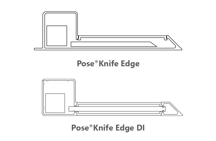 Pose Pose Knife Edge Section View