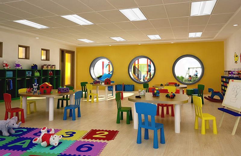 Day1x2 Render Recessed Daycare