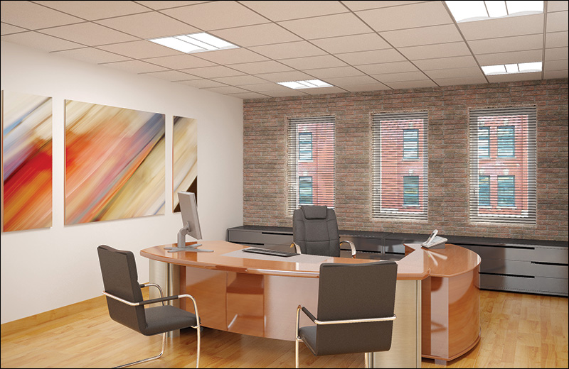 Wave2x2 Render Recessed Private Office