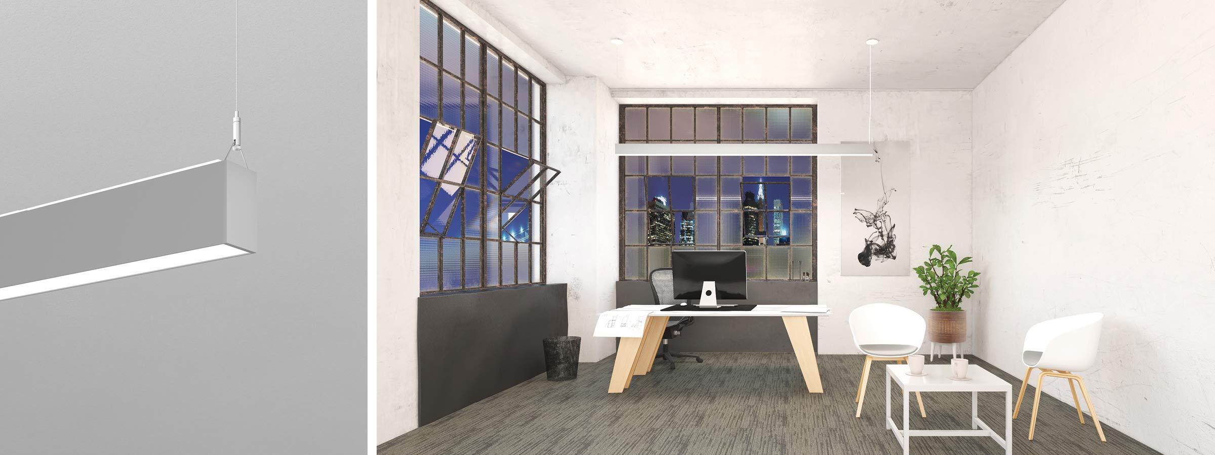 TwinBeam2 Render Pendant AP Office HERO