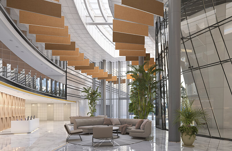 Spatial Softzone Renders Conference Lobby CO