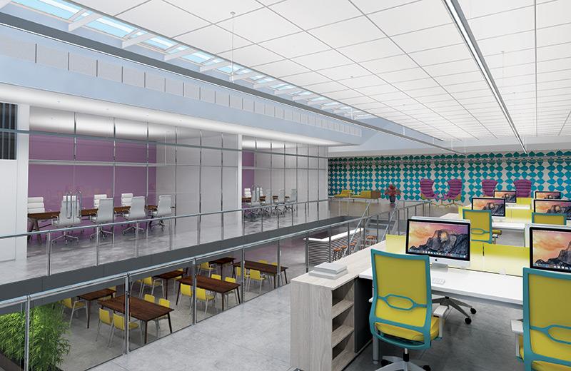 Stencil DI Pendant Render Application Corporate Building