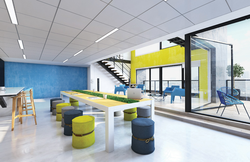 Click Render Recessed SO Lunch Meeting Room