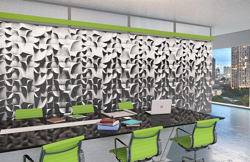 Graze Render Pendant Custom Green Conference Room