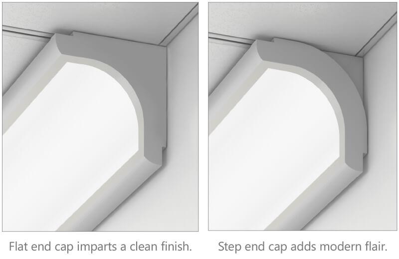 Flat Vs Step End Cap