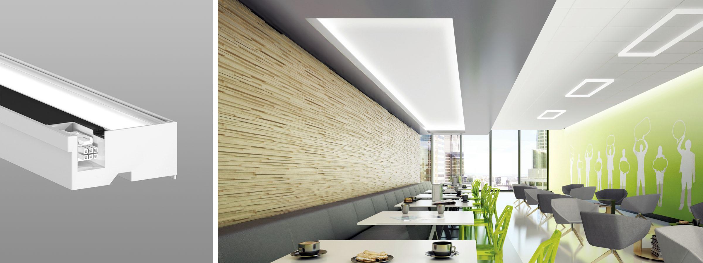Cove ceiling render cafeteria HERO