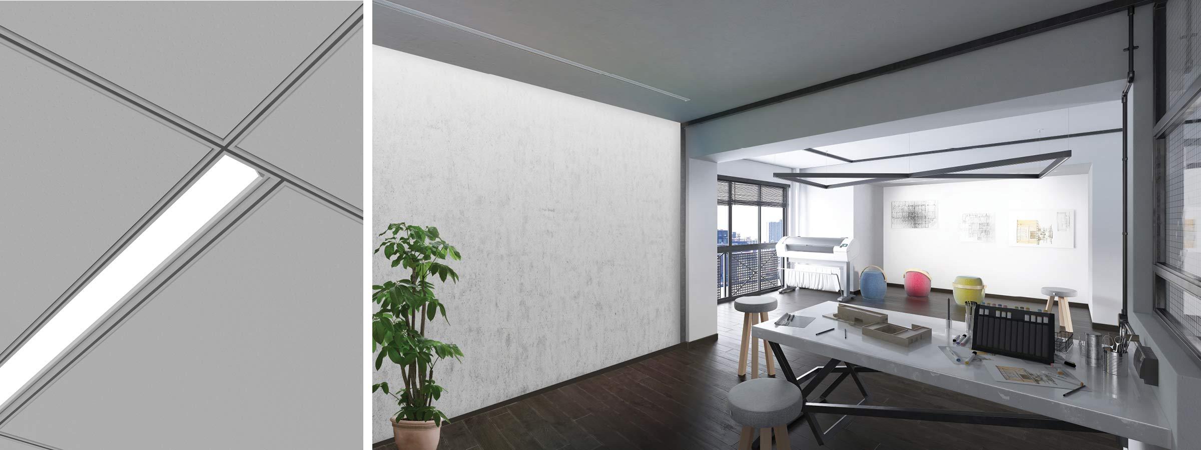 Wall Wash Perfekt Render Pendant AP Architects Office HERO