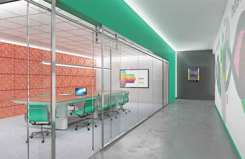 Edge 2 Render Corner Ceiling Office Hall