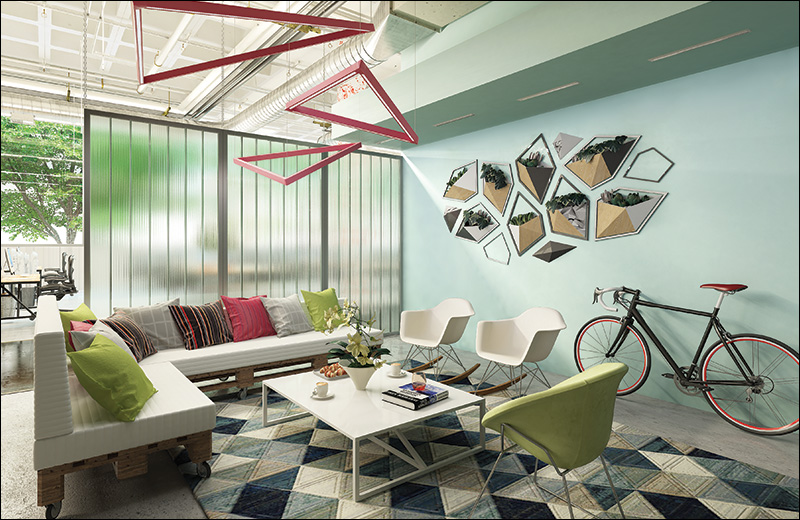 Wall Wash Perfekt Render Pendant Work Lounge