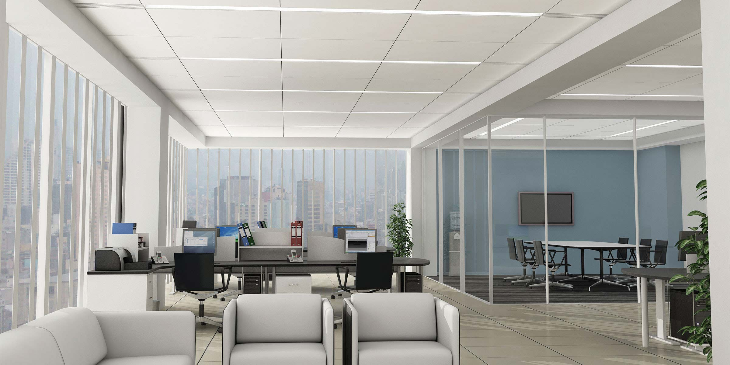 Beam6 Render Recessed SO Open Office
