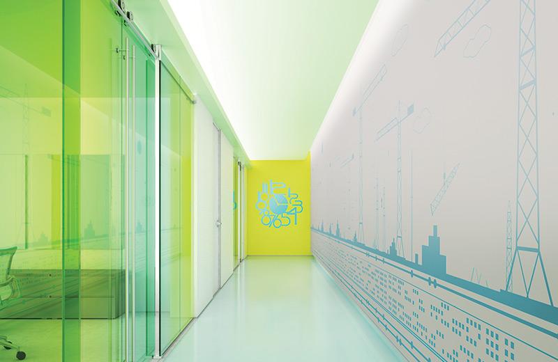 Cove ceiling render hallway