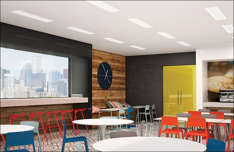 Skyeview1x4 Render Recessed Cafeteria