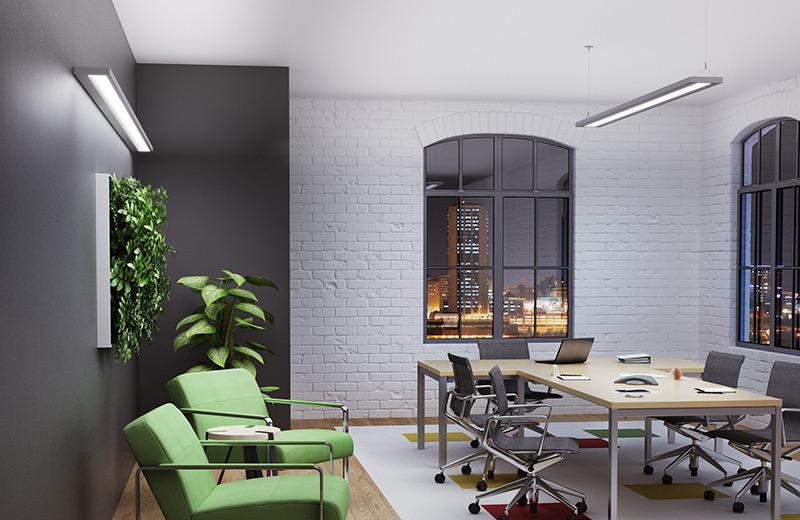 Slim Render Wall AP Office